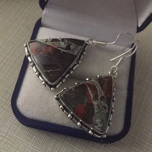 Jewelry - Amazing colors Butterfly Jasper gemstone earrings